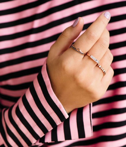 CLUSE Ring Idylle Marble Bar Ring rose gold plated (CLJ40002)